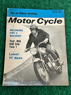 Rare 1964 Motor Cycle Magazine Bsa A50 500 Star Motorcycle Test Tt Preview