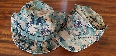 Lot of 2 USMC MARINE CORPS MARPAT WOODLAND CAMO BOONIE COVER HAT SIZE XL Cap