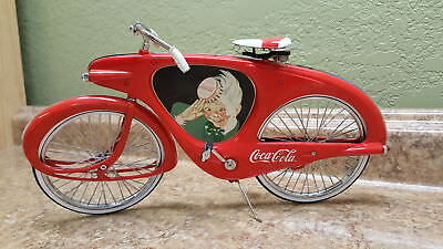VINTAGE 90's COCA COLA SODA DRINK SPRITE BOY ALL METAL BICYCLE W/ SIGN!
