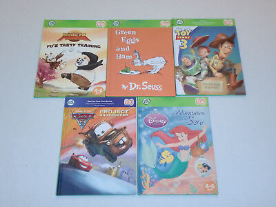 Leap Frog Tag Reader Bundle 5 Books: Cars; Green Eggs and Ham, Toy Story, Panda