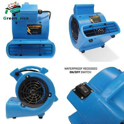 Soleaire Mini Storm 1/12 Hp Mini Air Mover Carpet Dryer Floor Blower Fan For Hom