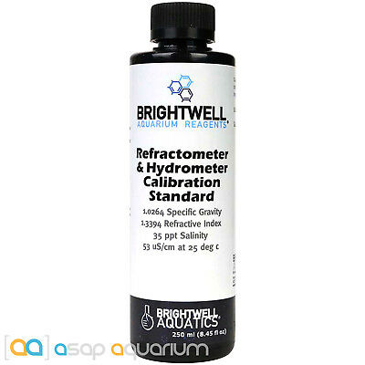 Brightwell Aquatics Refractometer Calibration Solution 250mL Fast Free USA Shipp