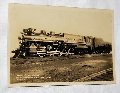 Real photo postcard RPPC - Canadian Pacific Railroad  Engine