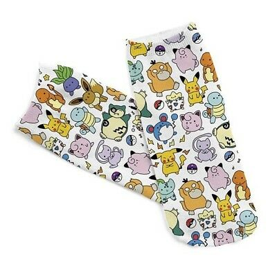 Pokemon Unisex Anime Character No Show Socks Pikachu 1 Pair SHIPS FROM USA