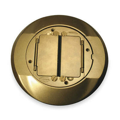 HUBBELL WIRING DEVIC Cast Aluminum Floor Box Cover Carpet Flange,Brass, S1CFCBRS