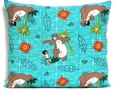Jungle Book  Toddler Pillow on Turquoise 100%Cotton WA25-2 New Handmade