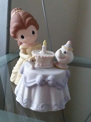 """Disney Precious Moments Belle  """"be My Guest For Our Birthday Best"""" Signed Nib"""