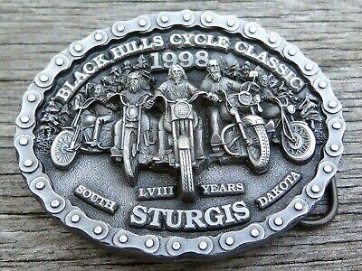 Sturgis South Dakota Motorcycle Black Hills Classic 1998 Belt Buckle