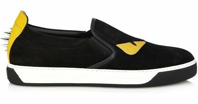 dbb5cc85612f NEW Fendi Men s Monster Black Suede Slip-On Sneakers Size 11 Box Damaged