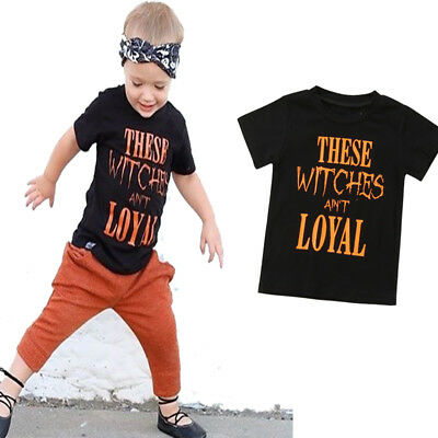 Baby Cute Toddler Boy Kid Clothes Short Sleeve Blouse Cartoon Print Top T-Shirt