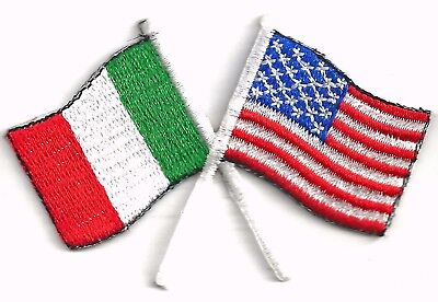 USA / ITALIA FLAGS - IRON or SEW-ON PATCH