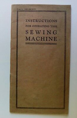 Antique Sewing Machine Instructions Booklet
