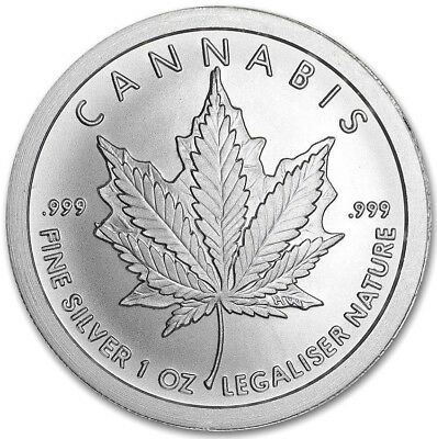 Cannabis: 1 oz .999 Solid Silver Art-Round From Silver Shields 2018 Collections
