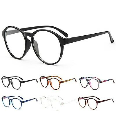 New Vintage Round Eyeglass Frame Glasses Retro Spectacles Clear Lens Eyewear UK
