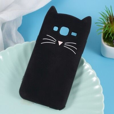 3D Moustache Cat Silicone Case for Samsung Galaxy J3 (2016)