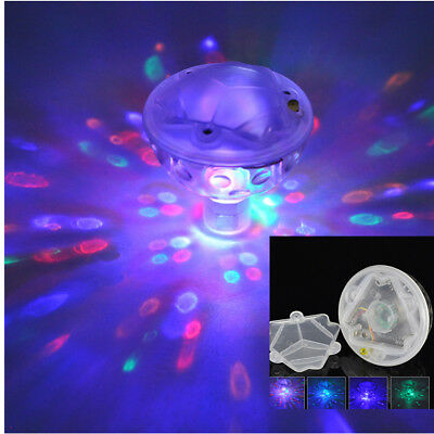 Floating Underwater RGB LED Disco Light Glow Show Swimming Pool Tub Spa Lamp UP