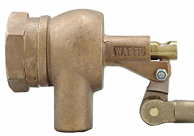 "New! Watts 1-1/2"" Bronze Float Valve, Pipe Mount, 1500"
