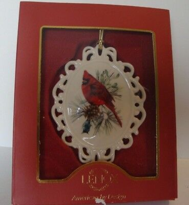LENOX Cameo Ornament with Cardinal - 4""