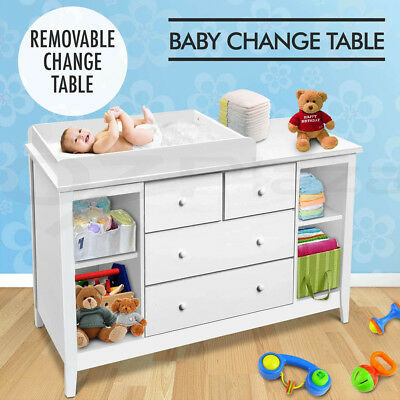 Changing Change Table Baby Chest with Drawer Dresser Nursery Cabinet Kid Toy Box