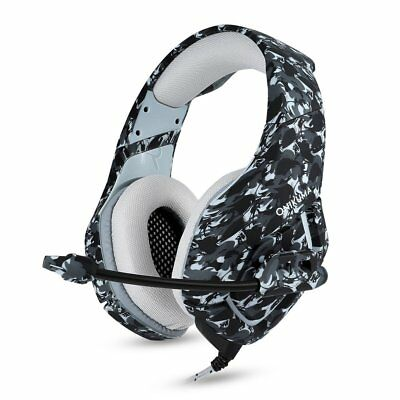 3.5mm Mic Gaming Headset Camouflage Headphone For PC MAC Laptop PS4 Xbox One 360