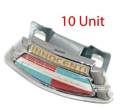 Lambretta LI Series 2 & 3 Chrome Horncast Badge & Clip Innocenti 10 Units