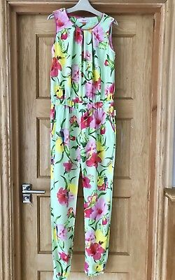TED BAKER *12-13y GIRLS Floral Bird Print Summer OUTFIT JUMPSUIT AGE 12-13 YEARS