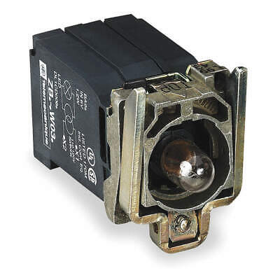 SCHNEIDER ELECTRIC Lamp Module and Contact Block,22mm,1NO, ZB4BW031, Clear