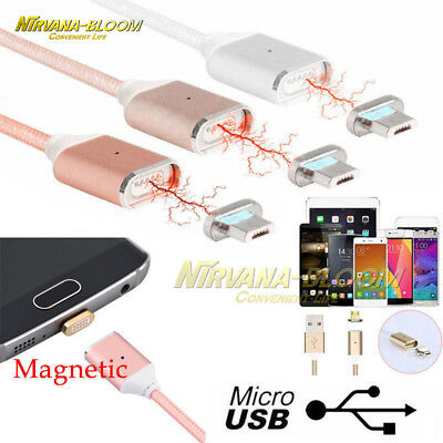 3IN1 Magnetic Micro USB&Type C&IOS Fast Charging Charger Data Sync Cable Cord