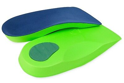 3/4 Orthotic Insoles for Arch Support Plantar Fasciitis Flat Feet Back Heel Pain