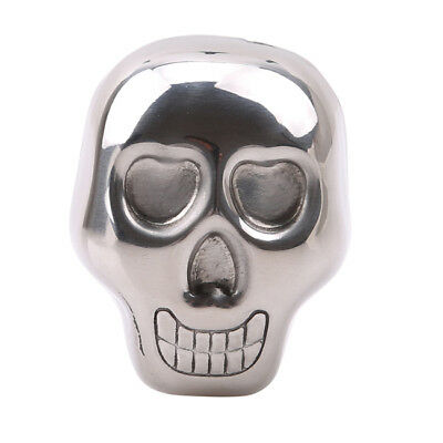 Stainless Steel Skull Ice Cube Cooler Wine For Bar Cooling ey Stone NEW N7