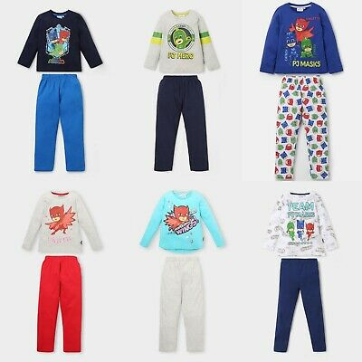 Boys Girls Kids Children PJ Masks Long Cotton Pyjamas Pjs Sets Age 3-8 years