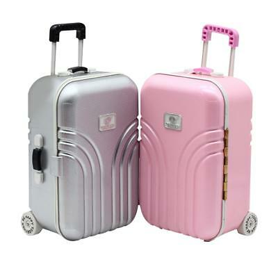 UK Barbie Doll Handbag Suitcase Doll Accessories Barbie Toy PINK /Silver 2018