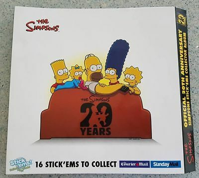 The Simpsons 20th Anniversary Stick'ems Collector Album - Complete Set