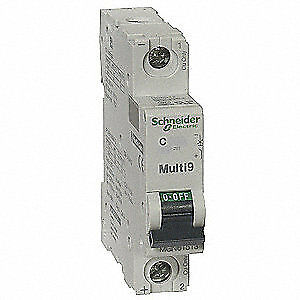 SCHNEIDER ELECTRIC Supplementary Protector,6A,1P,C,250VDC, MGN61506
