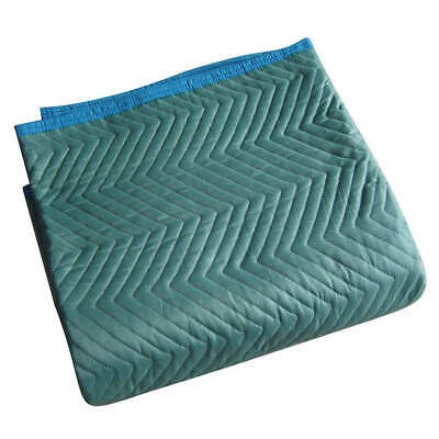 GRAINGER  Cotton/Poly Woven Quilted Moving Pad,L72xW80In,Green,PK6, 2NKT2, Green