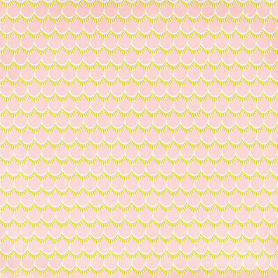 "American Crafts Everyday Single-Sided Cardstock 12""X12""-Scallops - 25 Pack"