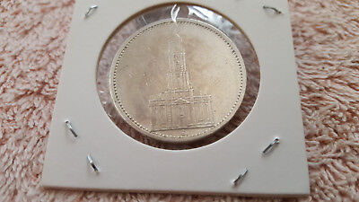 German WW2- 5 Reichsmark 1934 Potsdam Church Coin