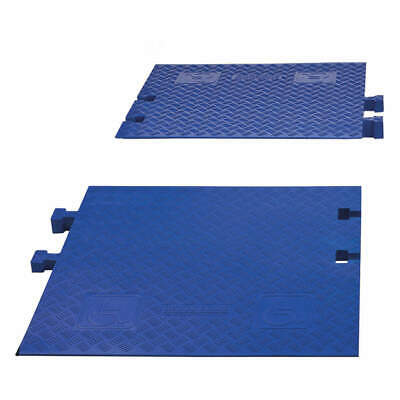 CHECKERS Polyurethane ADA Ramps,Drop Over,3 Channels,PR, CPRP-3-BLU