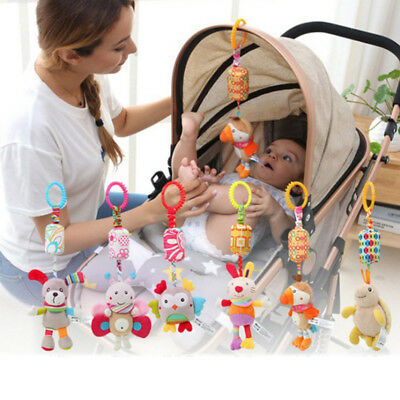 Infant Toys Mobile Baby Plush Toy Bed Wind Chimes Rattles Crib Bed Hanging Bells