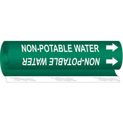BRADY Plastic Pipe Marker,Non-Potable Water, 5843-I