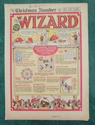 THE WIZARD No 1196 - 18th December 1948   Adventure Stories Comic UK Christmas