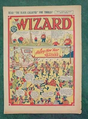 THE WIZARD No 1197 - 1st January 1949   Adventure Stories Comic UK