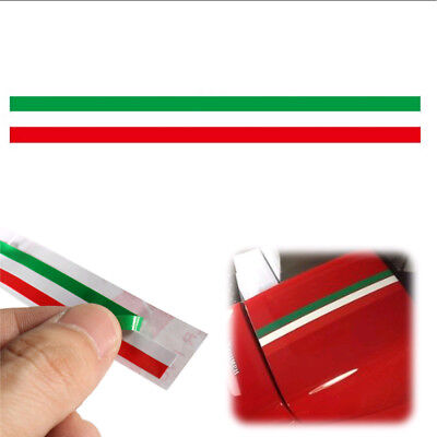 1pc Car PVC Italian Italy Flag Sticker Strip Decal Badge Bright Color 40*1.5cm