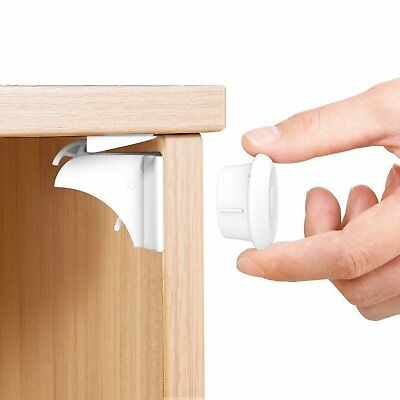 Child Safety Cupboard Locks No Drilling Magnetic Adhesive Lock Drawers Cabinet