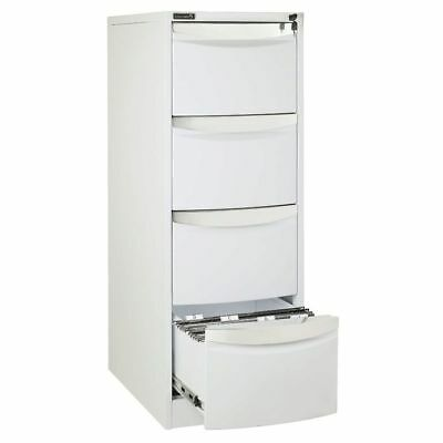 Stilford 4 Drawer Filing Cabinet White