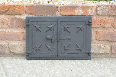 41 x 27.5 cm cast iron fire bread oven door doors flue clay range pizza