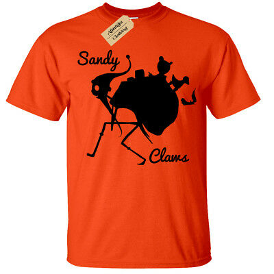 Sandy Claws T-Shirt Mens skellington nightmare halloween jack inspired christmas