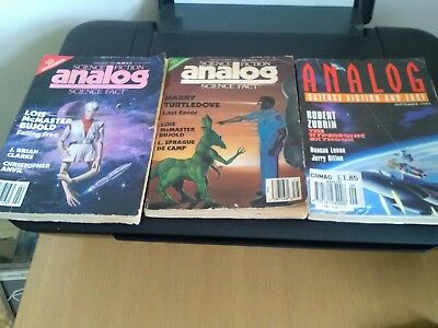 3no - ANALOG / SCIENCE FICTION AND FACT MAGAZINES -1988 - 1993 - 1987
