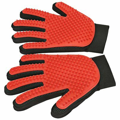 Pet Hair Removal Rubber Broom Shedding Grooming Gloves Easy Tool Mitts Kit Pair