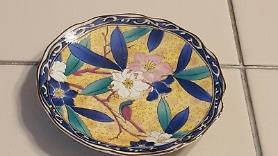 Vintage Takahashi small plate floral design sold in San Francisco Made in Japan